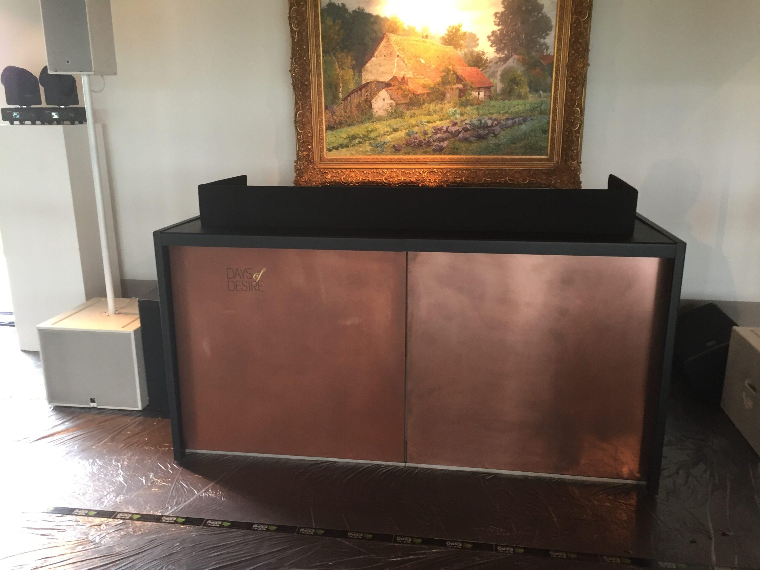 Balie Copper - top zwart